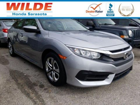 Certified Pre-Owned 2016 Honda Civic LX 4dr Car