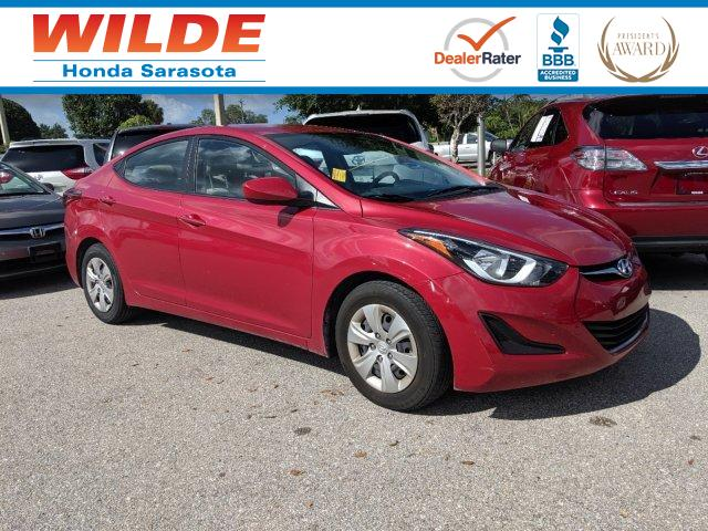 2016 Hyundai Elantra Value Edition >> Pre Owned 2016 Hyundai Elantra Value Edition 4dr Car In Sarasota